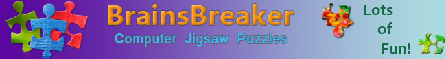 BrainsBreaker: Computer Jigsaw Puzzles, Lots of Fun!